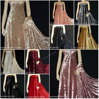 Marble Texture Crushed Velvet Craft Fabric Lycra 4 Way Stretch Material RM172