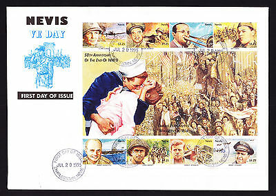 Nevis 1995 VE First Day Cover 50th Anniversary Famous War Personalities Leeward