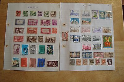Algeria stamps, selling old collection of 57 stamps, see scans