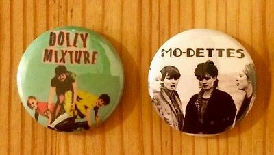 Dolly Mixture /  The Mo-Dettes - Set Of 2 Button Pin Badges