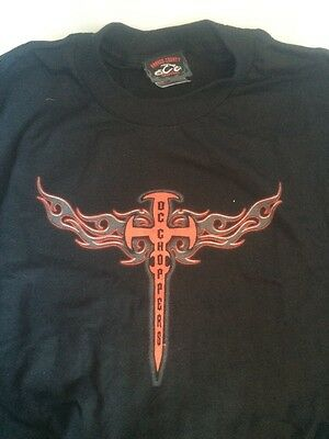BRAND NEW Orange County Choppers Men's Black t Shirt Short Sleeve Size XL cross