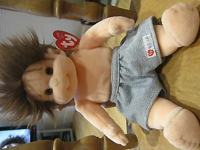 Tumbles  TY Beanie Kids collectable with tags dated 1996 cute with shorts