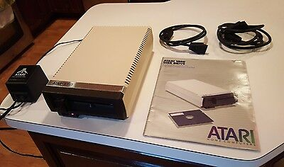 Vintage ATARI 1050 disk drive - Computer System  Floppy Disk Drive With Manuals