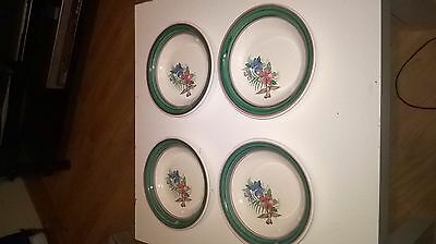 Carrigdhoun Pottery.4 Cereal/dessert bowls.HAND PAINTED,Beautiful.MINT