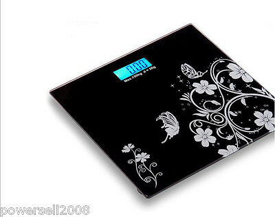 #6 Household Portable Glass Black Electronic Digital Body Weight Scale