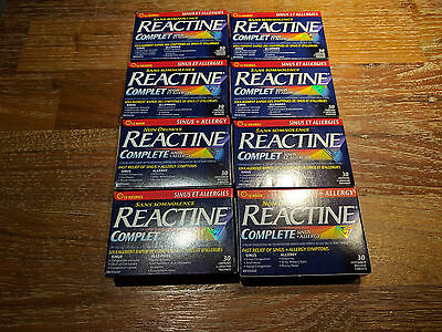 REACTINE non Drowsy Sinus and Allergy Total 8 Packs - 240 Pieces