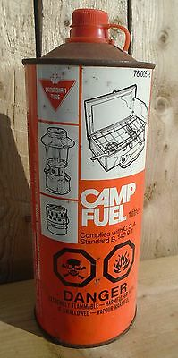 "SCARCE 1970's VINTAGE CANADIAN TIRE ""CAMP FUEL"" LITRE TIN CAN SIGN"