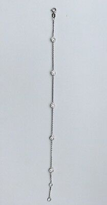 18ct white gold 0.50 Diamond bracelet