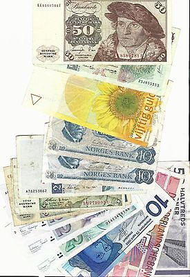 Netherlands, Germany, Portugal,  Norway & Denmark banknote lot