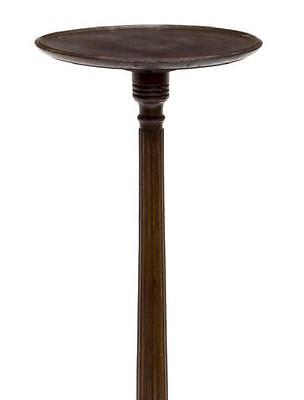 ENGLISH CIRCULAR TOP MAHOGANY PLANT STAND, Antique