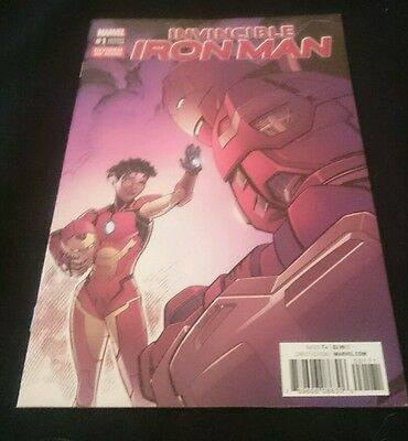 Invincible Iron Man #1Divided We Stand Variant Marvel Comics (2017)