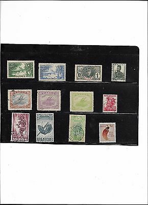 Papua New Guinea 8 issues some very early- 4 Guinee early Issues- Used