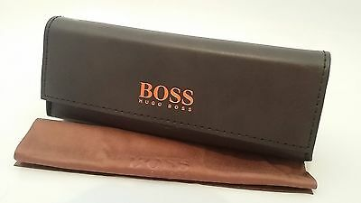 NEW Genuine HUGO BOSS SPECTACLE CASE BOSS ORANGE GLASSES WITH CLEANING CLOTH