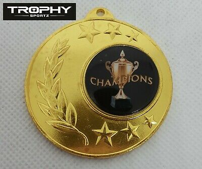 1 x 50mm CHAMPIONS BASKETBALL MEDAL,TROPHY,Free ribbons