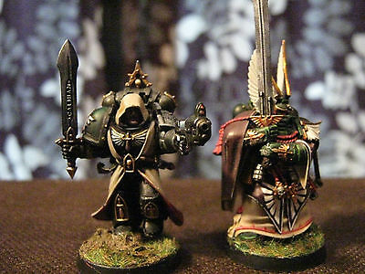 pro painted WARHAMMER 40k DARK ANGELS DEATHWATCH.