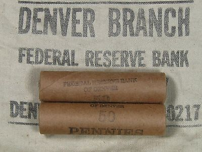 ONE UNSEARCHED - Lincoln Wheat Penny Roll 50 Cents - 1909 1958 P D S (309)