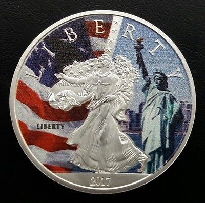 2017 U.S. Liberty Commemorative Silver Plated Medal