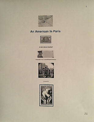 AN AMERICAN IN PARIS - Play Script for Broadway Show - Unbound Cast Member Copy