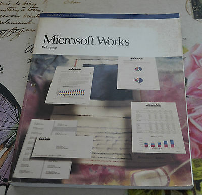 Microsoft Works Reference Manual 1989