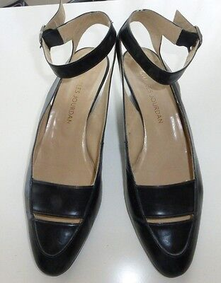 Vintage Charles Jourdan Women's Sling Back Leather Shoes, 9B, Low Heel