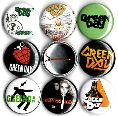 Green Day 8 NEW button pin badges american idiot kerplunk dookie 1039 slappy