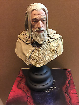 Lord of the Rings LOTR Gandalf the White 1/4 scale polystone bust Sideshow Weta