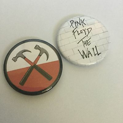 Pink Floyd The Wall Badges - Set Of 2