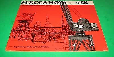 MECCANO PARTS 1969 MANUAL of INSTRUCTIONS for SETS 4/5/6