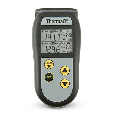 ThermaQ® 2 Channel Thermocouple, K-type,+ Leather cover pack, Meter only