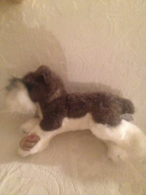 "Russ Yomiko Classics Miniature Schnauzer 15"" Long Plush Stuffed Dog"