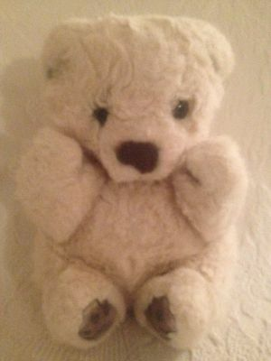 "Russ Yomiko Polar Bear Cub 8"" Plush Stuffed Animal Off White Beige"