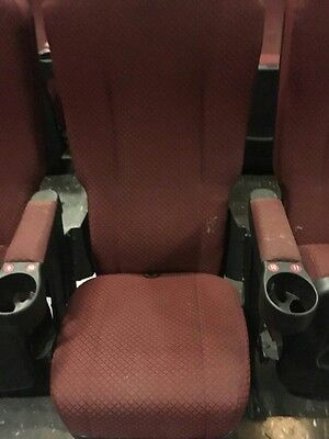 Lot of 100 Movie Cinema Theater Chairs