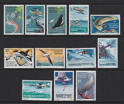 AAT 1973 : Antarctic Food Chain and Explorers Aircraft Definitives, Set of 12