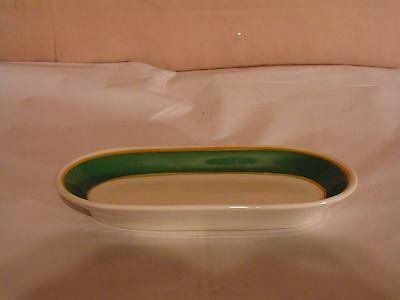 Syracuse China Florentine Green Syratone Gold Pin Stripes Butter Dish Bottom
