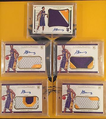 2015-16 National Treasures Select Gold Standard Anthony Brown Rookie Auto Lot 24
