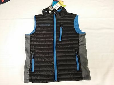 NWT Boys FREE COUNTRY Power Down Vest Black/Blue Size M (10/12)