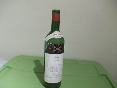 Vintage empty wine bottle CHATEAU MOUTON ROTHSCHILD 1959