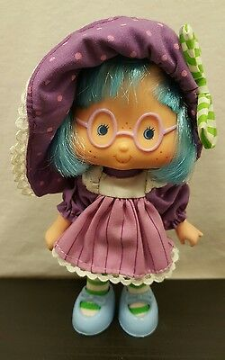 Vintage Strawberry Shortcake Plum Puddin' Pudding Party Pleaser Doll 1980's Rare