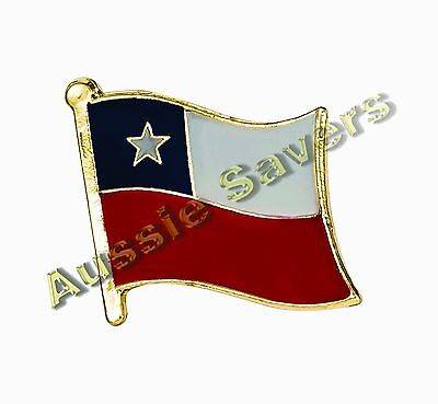 Chile (Chilean) Flag Hat Pin / Badge / Brooch - Brand New