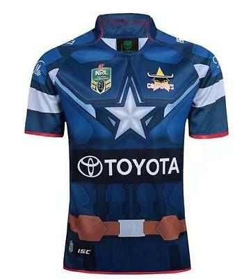New 2017 North Queenslan cowboys marvel jersey rugby football Wear T shirt