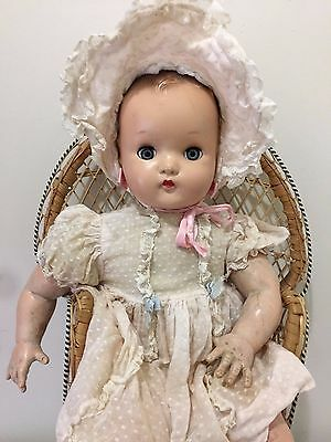 Vintage Early 1950's Original Madame Alexander Character Baby Doll, 18 Inches