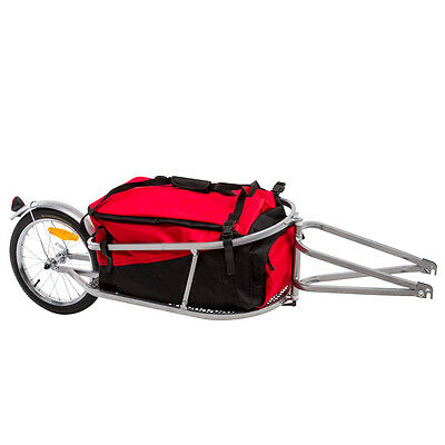 Single Wheel Folding Cargo Trailer for Bicycle Carrying Capacity 40Kg