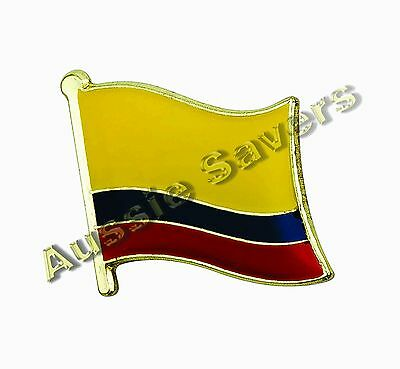 Colombia (Colombian) Flag Hat Pin / Badge - Brand New