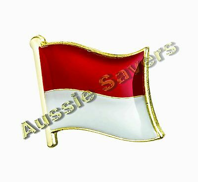 Indonesia (Indonesian) Flag Hat Pin / Badge - Brand New