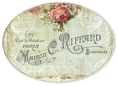VinTaGe FRenCh RoSe LaBeLs ShaBby WaTerSLiDe DeCALs