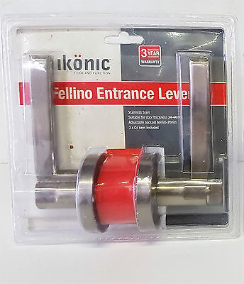 Door Lock Stainless Steel Iconic Lever Entrance, Passage Sets also Available