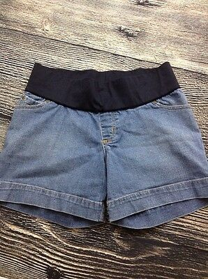 Liz Lange Targe Maternity Denim Shorts Light Wash Pockets SMALL WC8