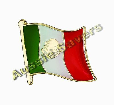 Mexico Flag Hat Pin / Badge - Brand New