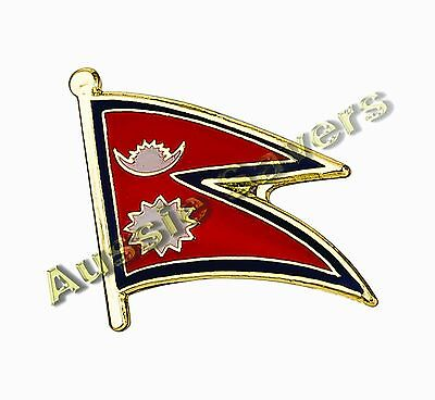 Nepal  Flag Hat Pin / Badge - Brand New