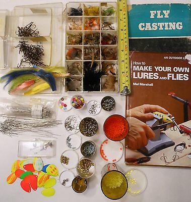 Lot Of Mixed Items For Lures And Fly Making See Photos
